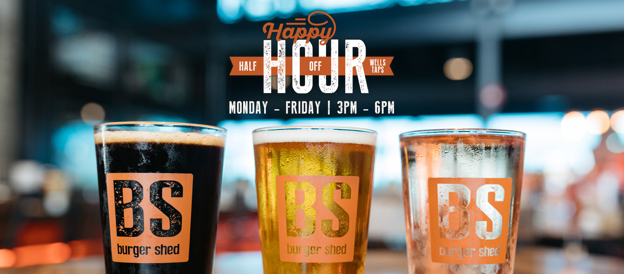 Burger Shed Happy Hour